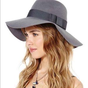 Brixton 'Piper' Gray Wool Floppy Hat Sz M